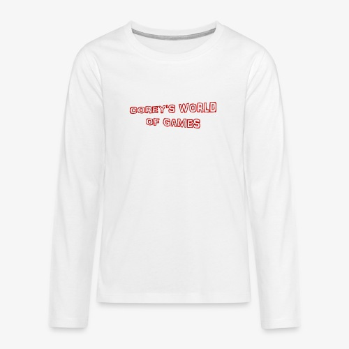 Coreys World Of Games Red - Teenagers' Premium Longsleeve Shirt