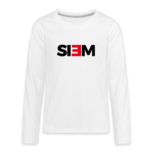 siem_zwart - Teenager Premium shirt met lange mouwen