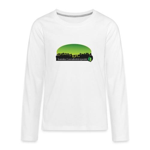 Svenska Cannabisfrämjandet - Långärmad premium T-shirt tonåring