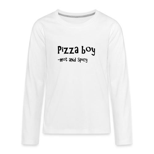 Pizza boy - Premium langermet T-skjorte for tenåringer