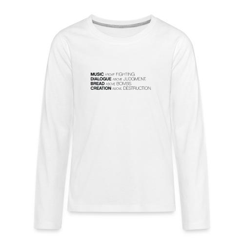 slogan png - Teenager Premium shirt met lange mouwen