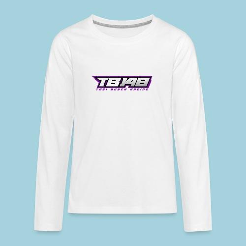 Tob Logo Lila - Teenager Premium Langarmshirt