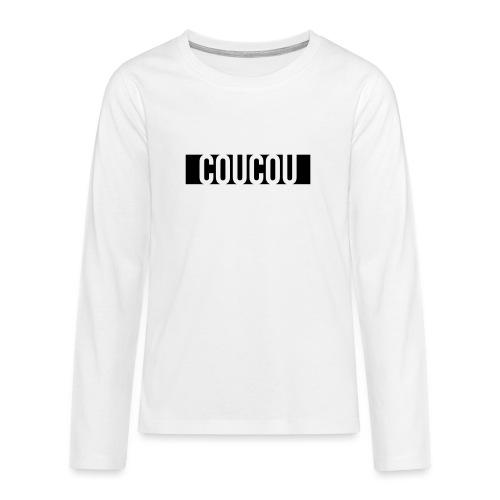 Coucou [1] Black - T-shirt manches longues Premium Ado