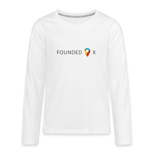 FoundedX logo png - Teenagers' Premium Longsleeve Shirt