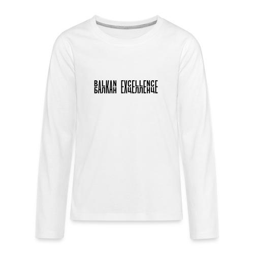 Balkan eXellence horizontal - Teenagers' Premium Longsleeve Shirt