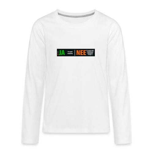 Ja ik maak websites - Teenager Premium shirt met lange mouwen