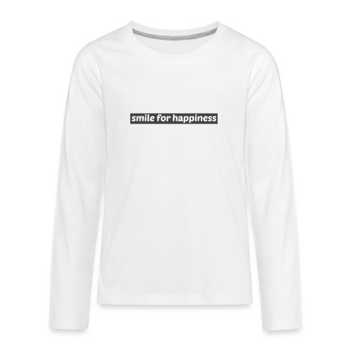smile for happiness - Långärmad premium T-shirt tonåring