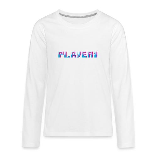 Arcade Game - Player 1 - Teenagers' Premium Longsleeve Shirt