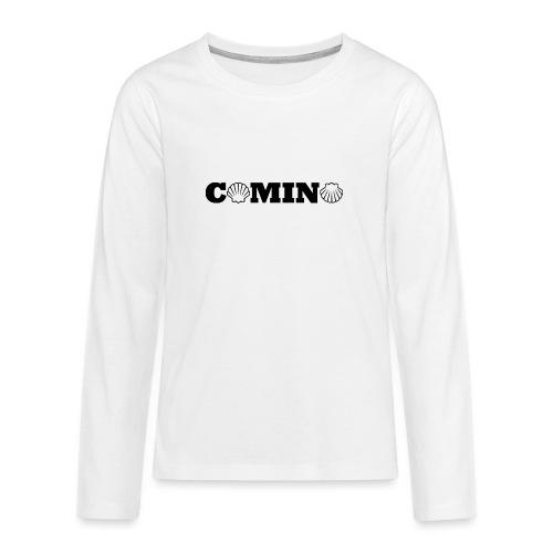 Camino - Teenager premium T-shirt med lange ærmer