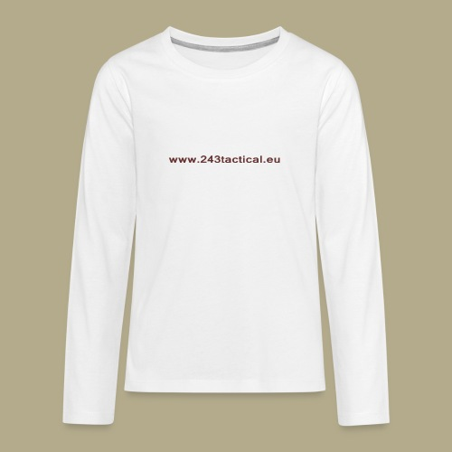 .243 Tactical Website - Teenager Premium shirt met lange mouwen