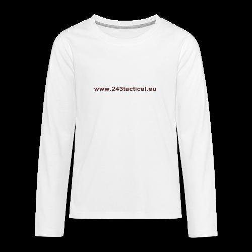 .243 Tactical Website - Teenager Premium shirt met lange mouwen