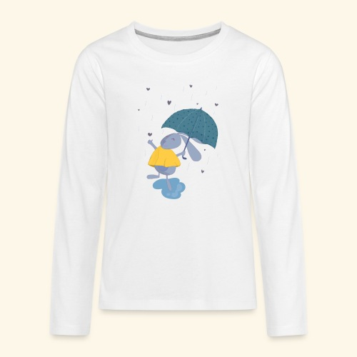 happy in the rain - Teenagers' Premium Longsleeve Shirt