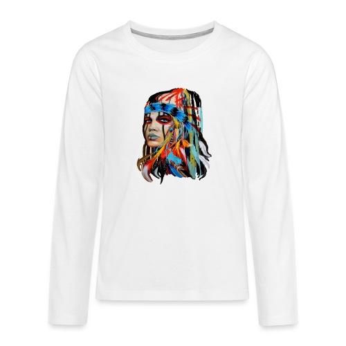 Pióra i pióropusze - Koszulka Premium z długim rękawem dla nastolatków