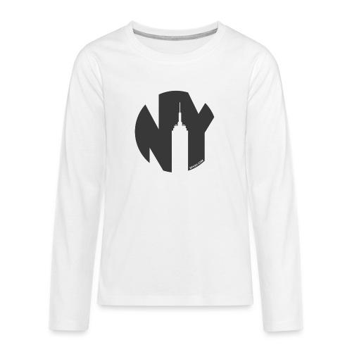 Logo French Yorker noir - T-shirt manches longues Premium Ado