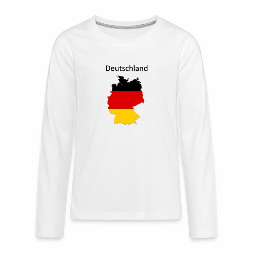 Deutschland Karte - Teenager Premium Langarmshirt