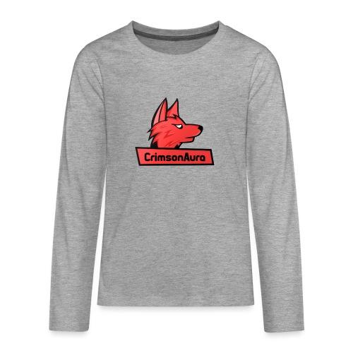 CrimsonAura Logo Merchandise - Teenagers' Premium Longsleeve Shirt