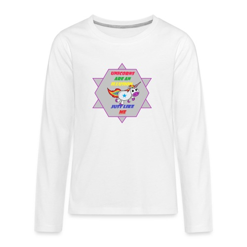 Unicorn with joke - Teenagers' Premium Longsleeve Shirt