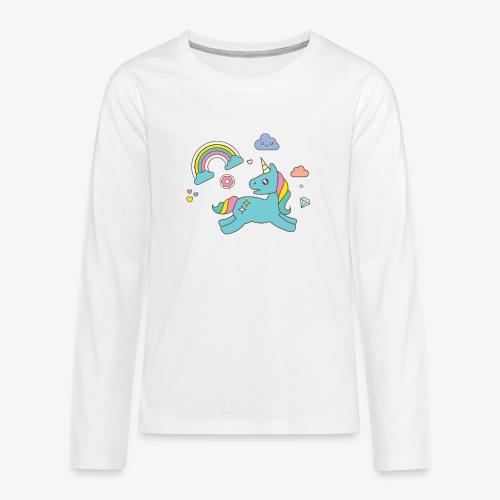 colored unicorn - Teenagers' Premium Longsleeve Shirt