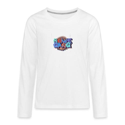 RoweGang Basic Logo - Teinien premium pitkähihainen t-paita