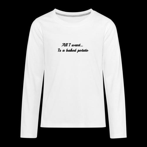 Baked potato - Teenagers' Premium Longsleeve Shirt