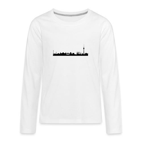 berlin skyline - Teenager Premium Langarmshirt