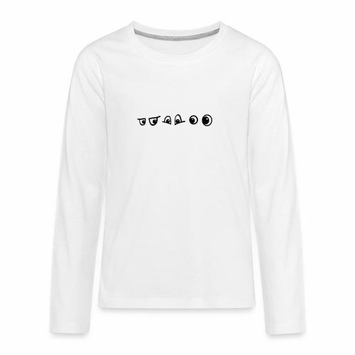 graffiti caracter augen - Teenager Premium Langarmshirt
