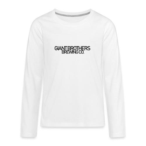 Giant Brothers Brewing co SVART - Långärmad premium T-shirt tonåring