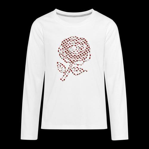 Rose aus Rosen - Teenager Premium Langarmshirt
