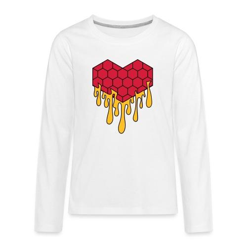 Honey heart cuore miele radeo - Maglietta Premium a manica lunga per teenager