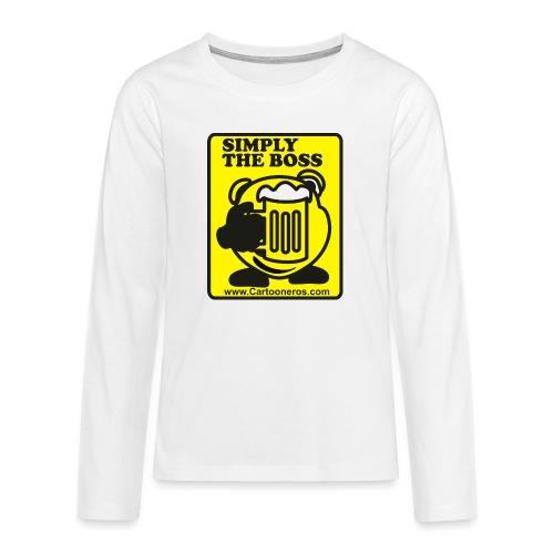 Simply the Boss - Teenagers' Premium Longsleeve Shirt