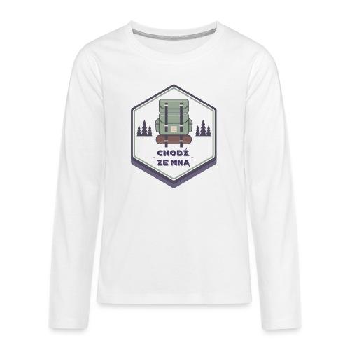 Górska wycieczka - Koszulka Premium z długim rękawem dla nastolatków