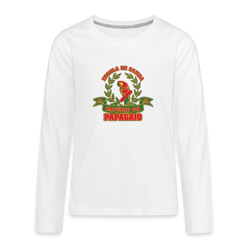 Papagaio logo - Teinien premium pitkähihainen t-paita