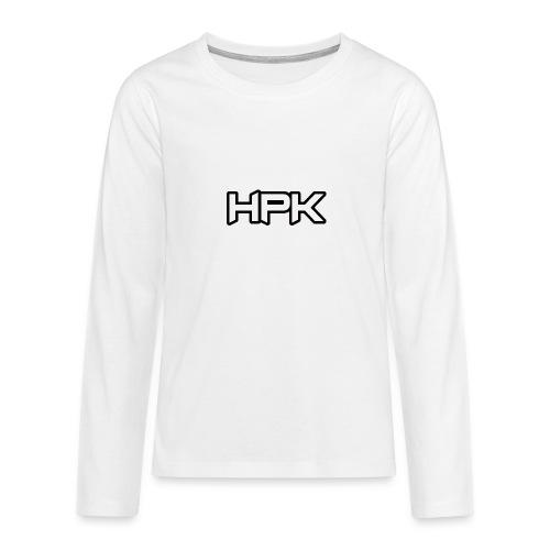 Het play kanaal logo - Teenager Premium shirt met lange mouwen
