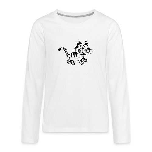 Friendly Cat - Teenager Premium Langarmshirt