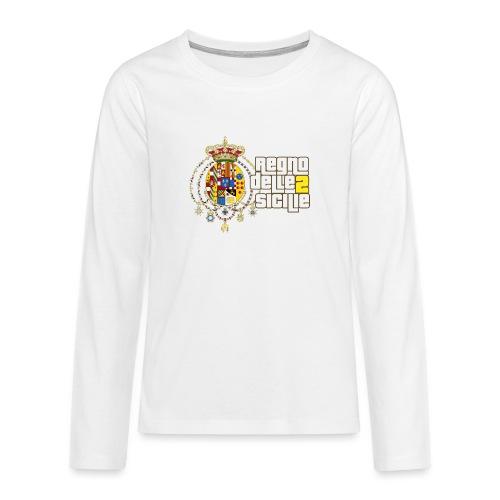 regno delle 2 sicilie testo bianco - Maglietta Premium a manica lunga per teenager