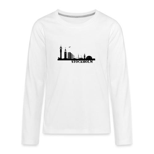 Stockholm - Långärmad premium T-shirt tonåring