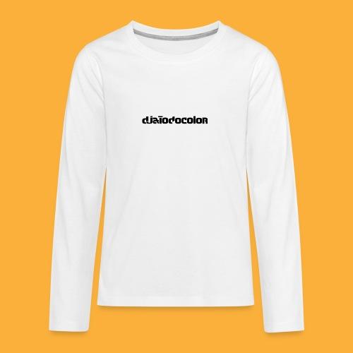 DJATODOCOLOR LOGO NEGRO - Camiseta de manga larga premium adolescente
