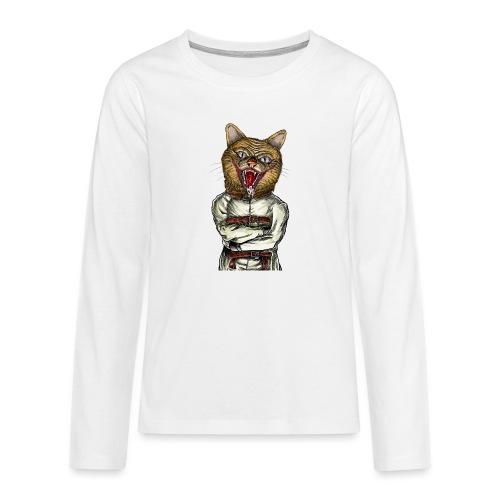 Crazy Cat - T-shirt manches longues Premium Ado
