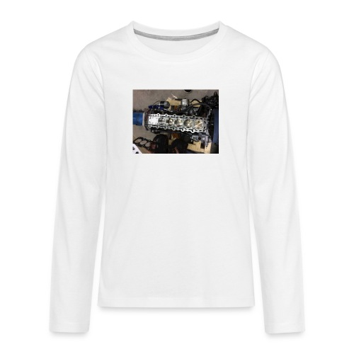 Motor tröja - Långärmad premium T-shirt tonåring