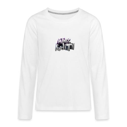 MinecAndiTV - Teenager Premium Langarmshirt