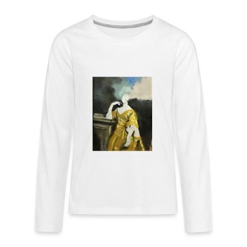 Donna sognatrice, in giallo - Maglietta Premium a manica lunga per teenager