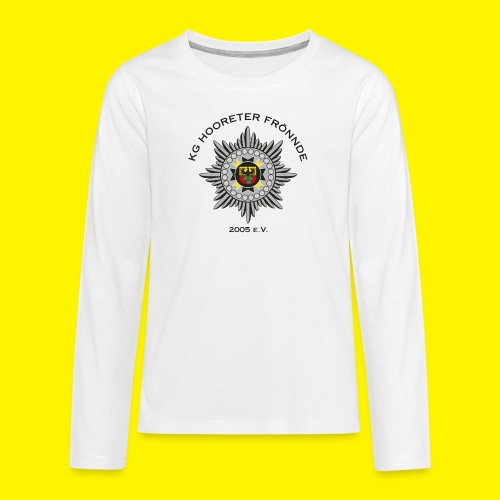 Schwarze Schrift - Teenager Premium Langarmshirt
