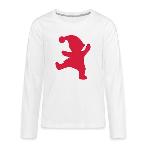 Santas helper - Teinien premium pitkähihainen t-paita