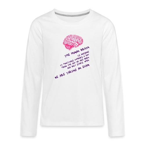 Human Brain - Maglietta Premium a manica lunga per teenager
