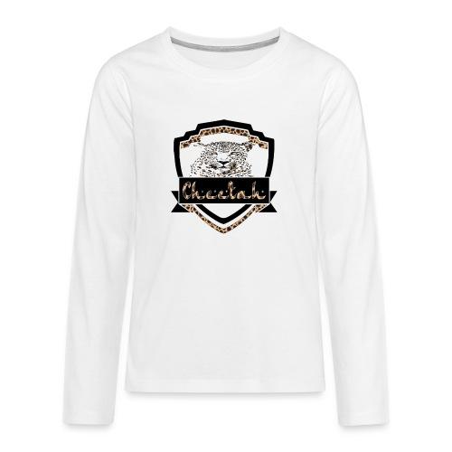Cheetah Shield - Teenagers' Premium Longsleeve Shirt