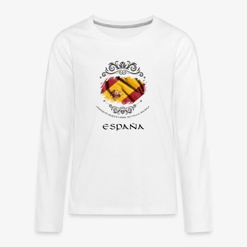 Spain Vintage Flag - Teenager Premium Langarmshirt
