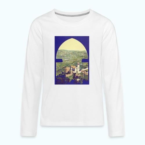 Tuscany vintage travel poster - Teenagers' Premium Longsleeve Shirt