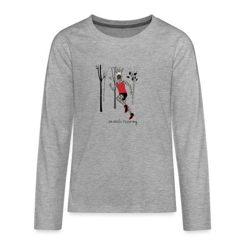 Zèbre running - T-shirt manches longues Premium Ado