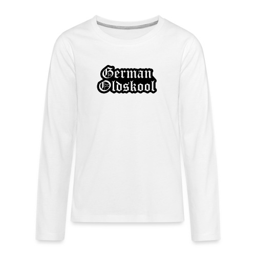 Grand Logo German Oldskool Official - T-shirt manches longues Premium Ado