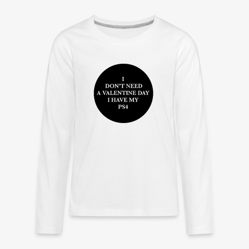 Valentine Day - Love videogame - Maglietta Premium a manica lunga per teenager